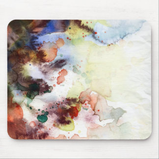 Abstract watercolor grunge texture with paint mouse pad