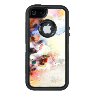 Abstract watercolor grunge texture with paint OtterBox iPhone 5/5s/SE case
