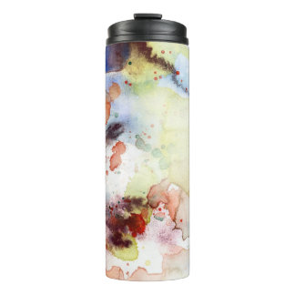 Abstract watercolor grunge texture with paint thermal tumbler