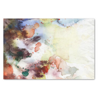 Abstract watercolor grunge texture with paint tissue paper