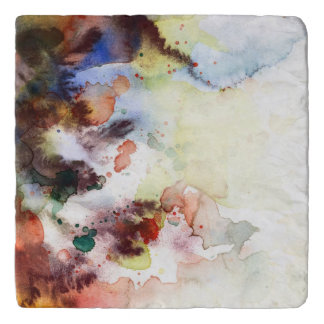 Abstract watercolor grunge texture with paint trivet