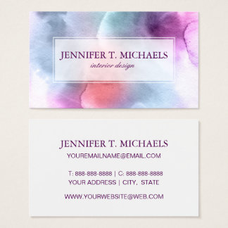 Abstract watercolor hand painted background 10 business card