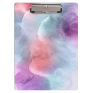 Abstract watercolor hand painted background 10 clipboard