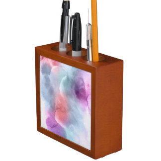 Abstract watercolor hand painted background 10 desk organiser