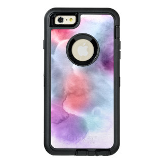Abstract watercolor hand painted background 10 OtterBox defender iPhone case