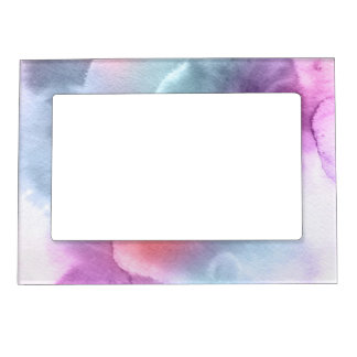 Abstract watercolor hand painted background 10 picture frame magnet