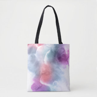 Abstract watercolor hand painted background 10 tote bag