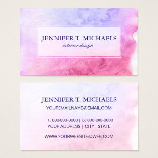 Abstract watercolor hand painted background 11 business card