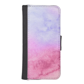 Abstract watercolor hand painted background 11 iPhone SE/5/5s wallet case