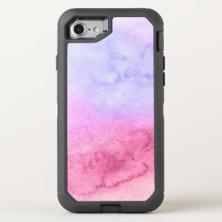 Abstract watercolor hand painted background 11 OtterBox defender iPhone 8/7 case