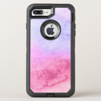 Abstract watercolor hand painted background 11 OtterBox defender iPhone 8 plus/7 plus case