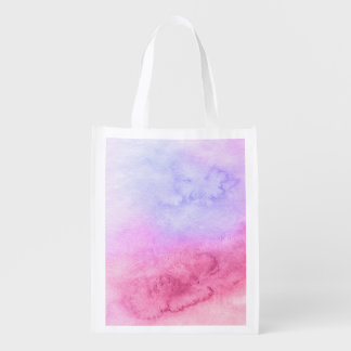 Abstract watercolor hand painted background 11 reusable grocery bag