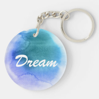 Abstract watercolor hand painted background 12 key ring