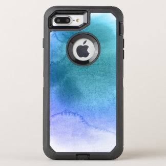 Abstract watercolor hand painted background 12 OtterBox defender iPhone 8 plus/7 plus case