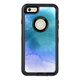 Abstract watercolor hand painted background 12 OtterBox defender iPhone case