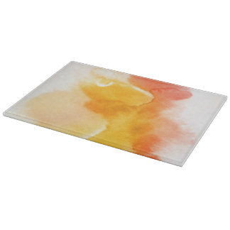 Abstract watercolor hand painted background 13 cutting board