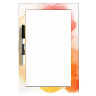 Abstract watercolor hand painted background 13 dry erase board