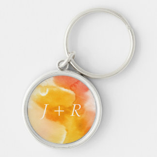 Abstract watercolor hand painted background 13 key ring