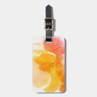 Abstract watercolor hand painted background 13 luggage tag