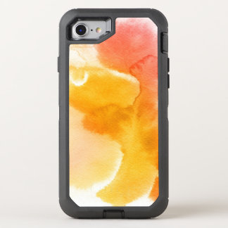 Abstract watercolor hand painted background 13 OtterBox defender iPhone 8/7 case