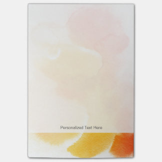 Abstract watercolor hand painted background 13 post-it® notes