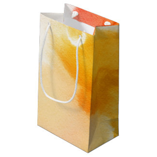 Abstract watercolor hand painted background 13 small gift bag