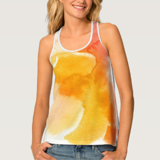 Abstract watercolor hand painted background 13 tank top