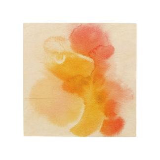 Abstract watercolor hand painted background 13 wood print