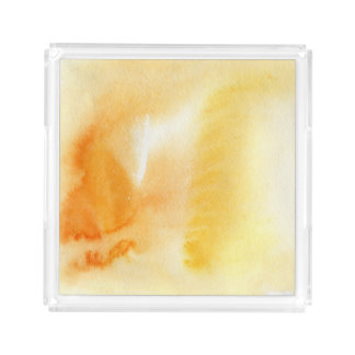 Abstract watercolor hand painted background 14 acrylic tray