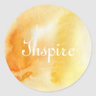 Abstract watercolor hand painted background 14 classic round sticker