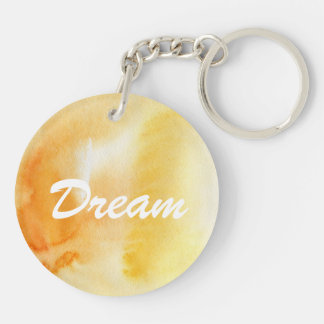Abstract watercolor hand painted background 14 key ring