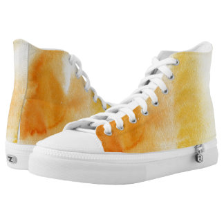 Abstract watercolor hand painted background 14 printed shoes