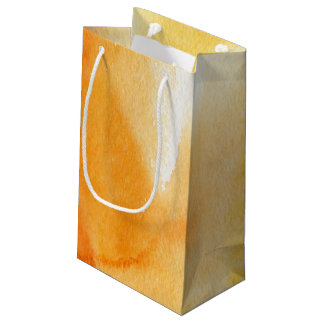 Abstract watercolor hand painted background 14 small gift bag