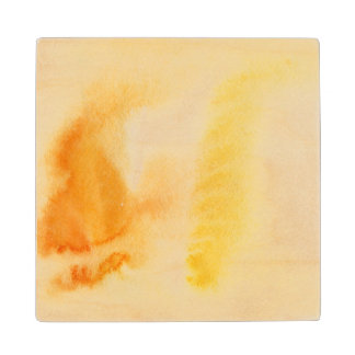 Abstract watercolor hand painted background 14 wood coaster