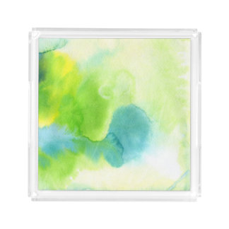 Abstract watercolor hand painted background 16 acrylic tray