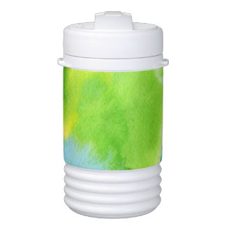 Abstract watercolor hand painted background 16 drinks cooler