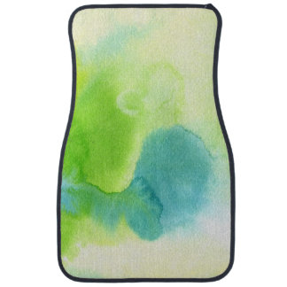 Abstract watercolor hand painted background 16 floor mat
