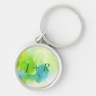 Abstract watercolor hand painted background 16 key ring