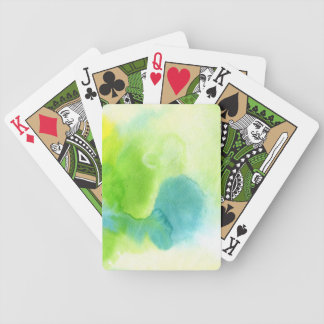 Abstract watercolor hand painted background 16 poker deck