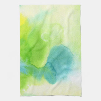 Abstract watercolor hand painted background 16 tea towel