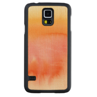 Abstract watercolor hand painted background 17 carved maple galaxy s5 case