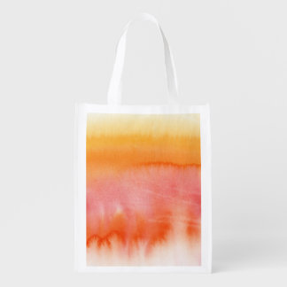 Abstract watercolor hand painted background 17 reusable grocery bag