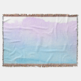 Abstract watercolor hand painted background 18 2 throw blanket
