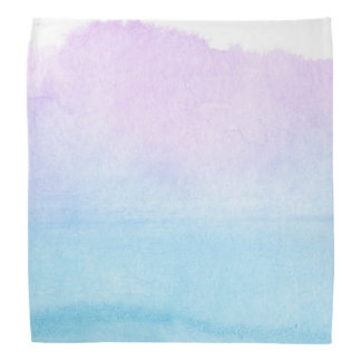 Abstract watercolor hand painted background 18 bandana