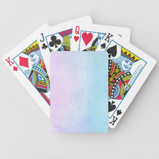 Abstract watercolor hand painted background 18 bicycle playing cards