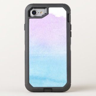Abstract watercolor hand painted background 18 OtterBox defender iPhone 8/7 case