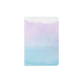 Abstract watercolor hand painted background 18 passport holder