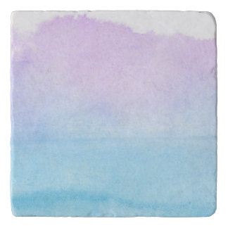 Abstract watercolor hand painted background 18 trivet