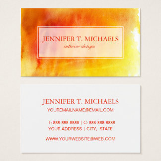 Abstract watercolor hand painted background 19 business card