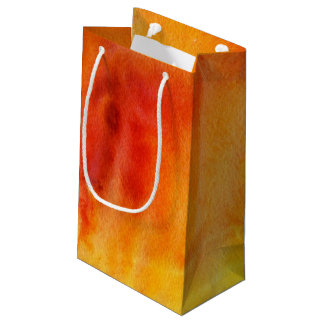 Abstract watercolor hand painted background 19 small gift bag